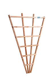 wicklow wood fan wall trellis 3x2ft golden brown