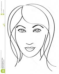 simple face drawing simple woman39s face stock vector image