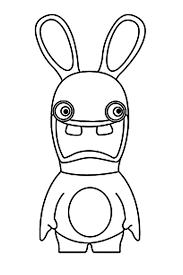 coloriage lapins cretins à imprimer