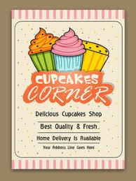 cupcakes template cupcake bakery brochure cupcake shop menu