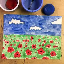 veterans day poppy painting art projects for kids