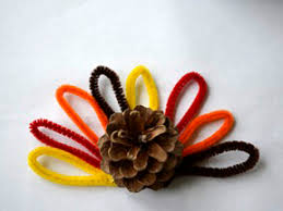 pinecone turkey diy craft