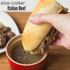 slow cooker italian beef its yummi bites of food and life