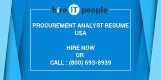 Procurement Analyst Resume Sample by Procurement Analyst Resume Hire It People We Get It Done