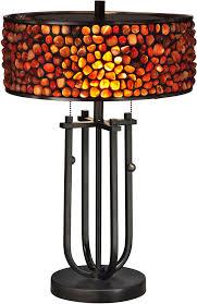 Dale Tiffany Buffet Lamps by Dale Tiffany Tt13197 Pebble Stone Contemporary Dark Bronze Table
