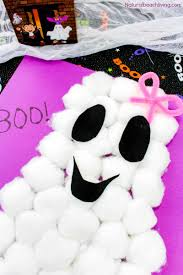 cute and easy cotton ball ghost craft for preschoolers natural