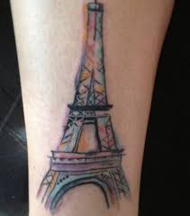 watercolor eiffel tower tattoo meaning