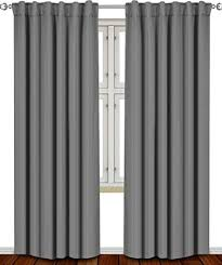 Curtains In A Grey Room Blackout Room Darkening Curtains Window Panel Drapes