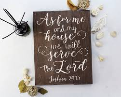amazon com as for me and my house sign scripture wall art verse