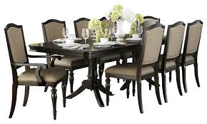 Espresso Dining Room Set by Homelegance Marston Double Pedestal Dining Table In Dark Espresso