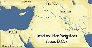middle east map moses time map of israel and neighbors 2000 b c bible history