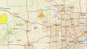 Map Of Troy Michigan by Dte Energy Power Outage Map Thousands Without Electricity In