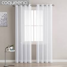 White Sheer Curtains Modern Plain White Sheer Curtains Kitchen Voile Tulle Curtains For