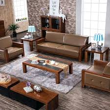 Leather And Wood Sofa Leather And Wood Sofas En En En Leather Sofa Set Wood Trim
