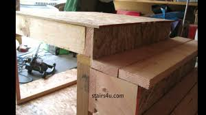 you must compensate for 1 inch step overhang stair building