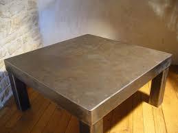 bureau beton ciré table basse en béton ciré olnidesign luminaires mobiliers