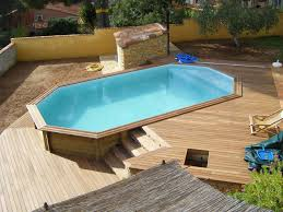 piscine sur pilotis terrasse en cumaru avec marches pour piscine hors sol deck