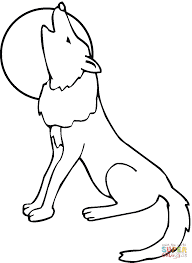 coyote howling moon coloring page free printable coloring pages