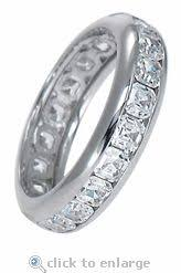 White Gold Cz Wedding Rings by 19 Best Cz Eternity Bands Images On Pinterest Eternity Bands