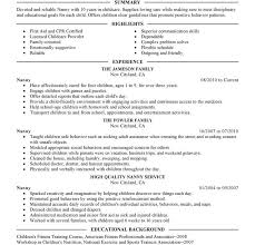 Child Care Resume Samples by Nanny Job Resume Objective Vfx Resume Samples Resume Cv Cover