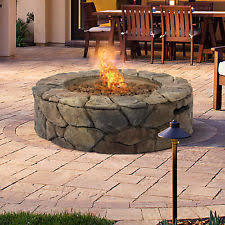 propane fire pit canada outdoor natural stone round liquid propane fire pit with lava