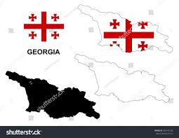 Georgia Flag Georgia Map Vector Georgia Flag Vector Stock Vektorgrafik