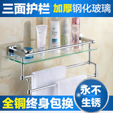 Bathroom Glass Shelves With Towel Bar All Copper Bathroom Glass Shelf Bathroom Toilet Bathroom Mirror