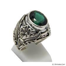 cincin perak jual jnanacrafts cincin perak motif ukiran bunga batu green quartz