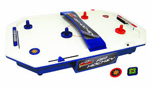 hockey time air hockey table team power battery operated air hockey game amazon co uk toys games