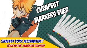 cheapest copic alternative touchfive markers review youtube