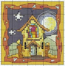 chapel in moonlight u0027 from michael powell u0027s u0027mini cross stitch