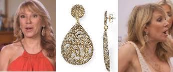 ramona singer earrings bigblondehair on ramona singer s gold drop filigree