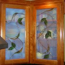 kitchen cabinet door stained glass inserts kitchen cabinet stained glass inserts flowers