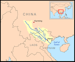 Asia Rivers Map by Marxist Vietnam Rivers