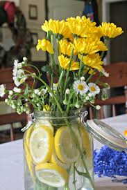 Centerpiece For Baby Shower by 31 Baby Shower Decorating Ideas With Gray U0026 Yellow Theme
