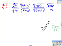 Radicals And Rational Exponents Worksheet Answers Algebra Ii 7 5 Operations With Radical Expressions Youtube