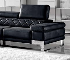 Modern Sectional Sofas Miami by Arden Sectional Sofa In Black Fabric By Vig