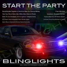 strobe lights for car headlights lincoln town car strobe police light kit for headls headlights