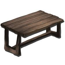 Wooden Table With Bench Wooden Table Official Ark Survival Evolved Wiki