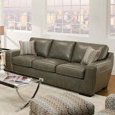 cantina quarry loophole breeze bonded leather sofa by simmons