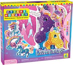 amazon com the orb factory sticky mosaics unicorns toys u0026 games