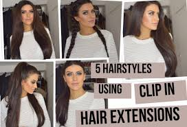 different hairstyles with extensions 5 hairstyles using clip in extensions using lullabellz super thick