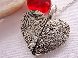 personalized paw print necklace fingerprint heart necklace paw print jewelry sterling silver