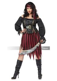 Pirate Woman Halloween Costumes Queen Seas Pirate Woman Costume 35 99