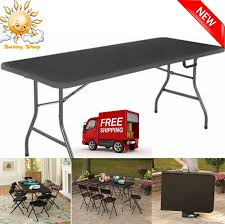 Cosco Outdoor Products Cosco Outdoor - cosco office centerfold folding table black 6 foot portable
