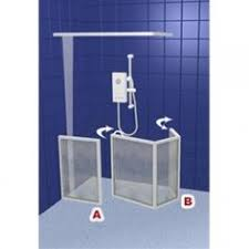 Disabled Half Height Shower Doors Contour Corner Access Wf4 White Half Height Shower Doors