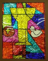 Kids Stained Glass Craft - stained glass kids medieval project gothic rose and child