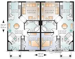 split entry floor plans multi family plan w3049 detail from drummondhouseplans com