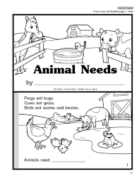animal needs booklet science needs of plants and animals gr 1