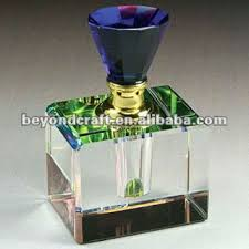 rainbow colored crystal perfume bottle crystal home decoration